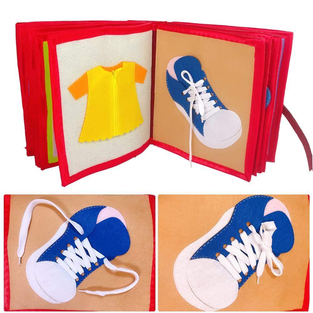 Godya Libro de Tela para ni/ños Imagen no Tejida Libro de educaci/ón temprana Manual para el Desarrollo de Inteligencia de educaci/ón temprana beb/é /único