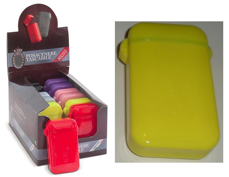 Ceniceros de bolsillo port/átiles ASHTRAY pocket diferentes colores sello herm/ético colores brillantes Yellow