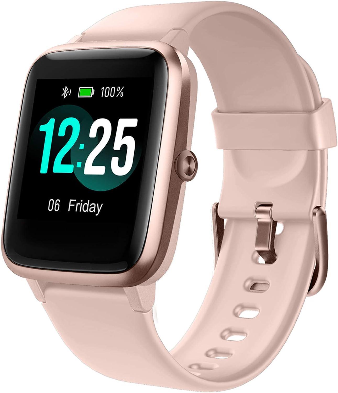 PUTARE Smartwatch, Relojes Inteligentes Impermeable IP68 para Mujer Hombre niños, Reloj de Fitness con Monitor de Frecuencia Cardíaca/Sueño/Calorías/Pasos, Pantalla Inteligente de 1.3