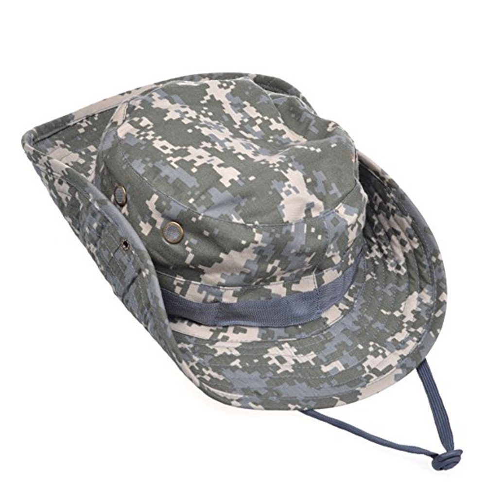 Fishing Hat Sports Topee Jungle Camping Cap Summer String Hat for Hunting Outdoor (ACU Camouflage) Qiqilei MFSUT311199