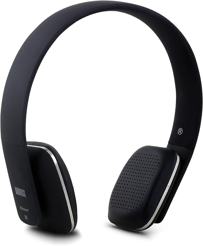 Amazon Com August Ep636 Bluetooth Headphones Wireless On Ear Headphones With Nfc Headset Microphone Black