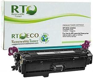 Renewable Toner Compatible Toner Cartridge Replacement for HP 507A CE403A Laserjet Enterprise 500 M570dn M575c M575dn M575f M551n M551xh M551dn (Magenta)