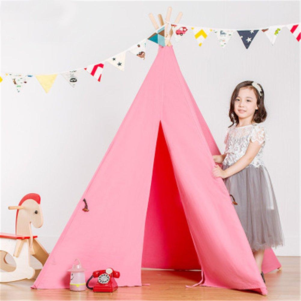 Kinder Spielzelt Prinzessin Indianerzelt Tipi Spielzelt Zelt für Garten,Rosa
