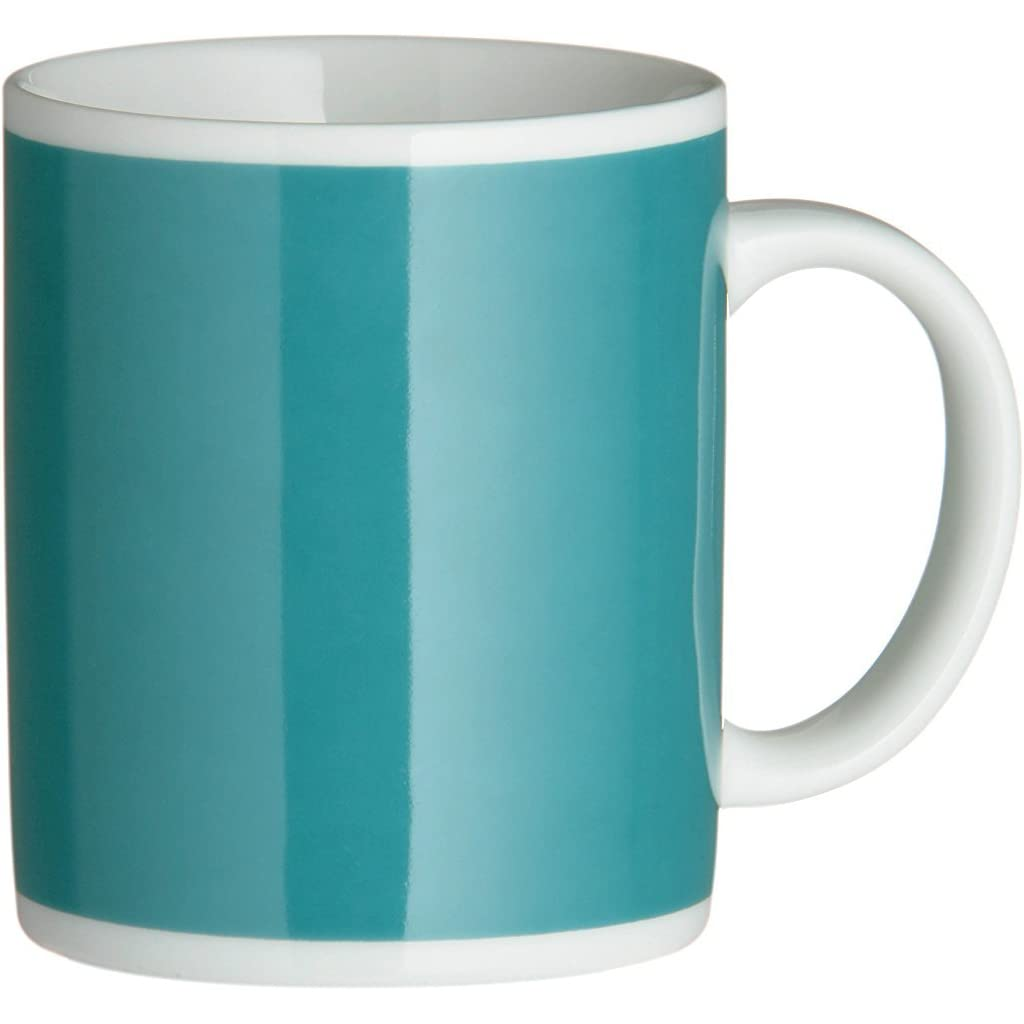 Premier Housewares Teal Porcelain Mugs Set of 6