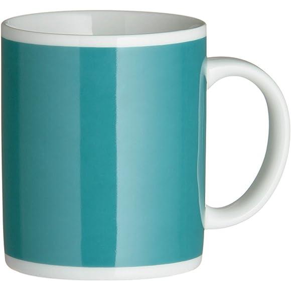 Premier Housewares Teal Porcelain Mugs Set of 6