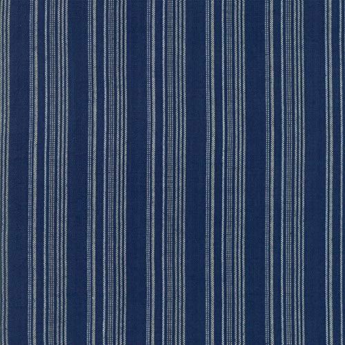 Woven Railroad Stripe - Moda Fabrics Boro Indigo Woven Railroad Stripe