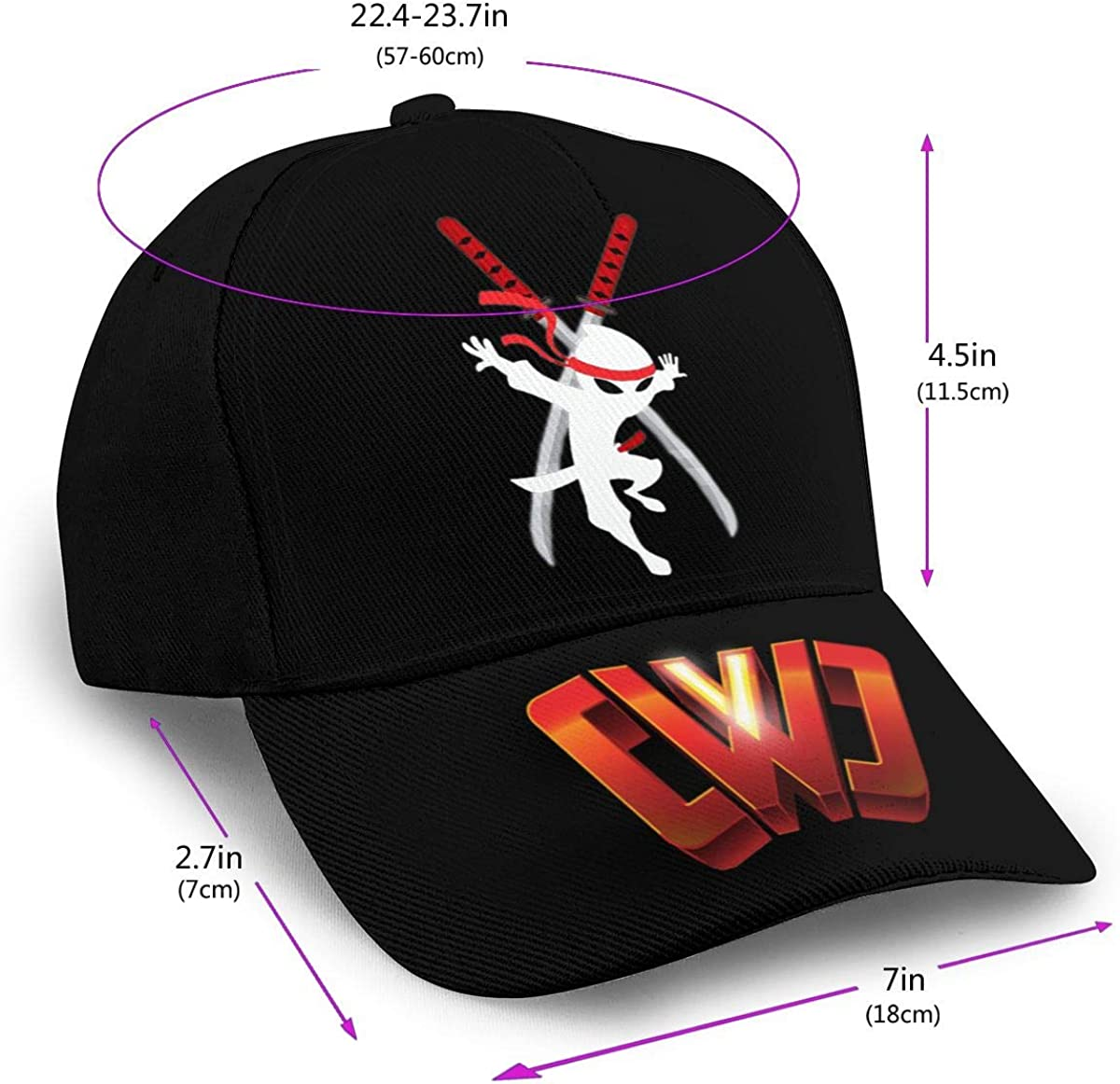 L/&B521/_Caps Unisex 3D Print Hat Z0rg0/_C/_W/_C Baseball Cap Hip Hop Snapback Adjustable Flat Bill Hat for Men Women