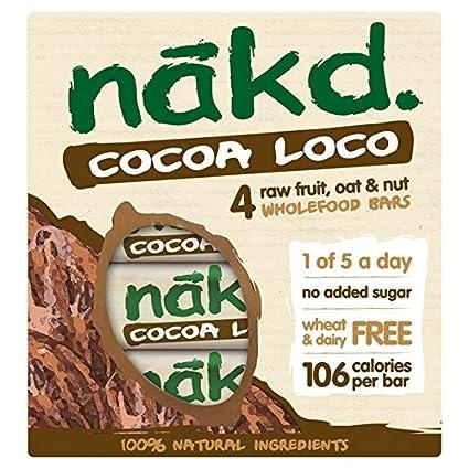 Nakd barras nutritivas chocolate avena – sin gluten, sin lactosa, cruda Certificado Paleo,
