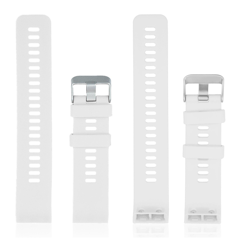 Rukoy Reemplazo de Banda para Garmin Forerunner 35, Reloj Correa de Repuesto de Silicona Suave para Garmin Forerunner 35 Reloj Inteligente, ...