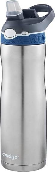 Garrafa Térmica Inox Autospout Ashland Chill com Bico Retrátil, Contigo, Azul, 591ML