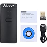 Docooler Aibecy Portable Mini Wireless USB Wired 1D 2D Image Barcode Scanner QR PDF417 Bar Code Reader 130,000 Inventory Memory Multi-Language for Windows Mac Android iPad
