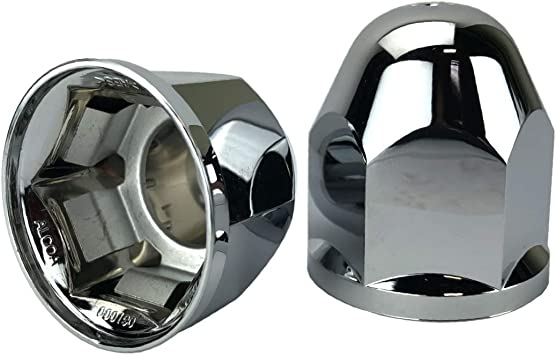 ALCOA 10 1 1//16 Push On Hex Flange Hug A Lug Nut Covers with Interior Metal Clip