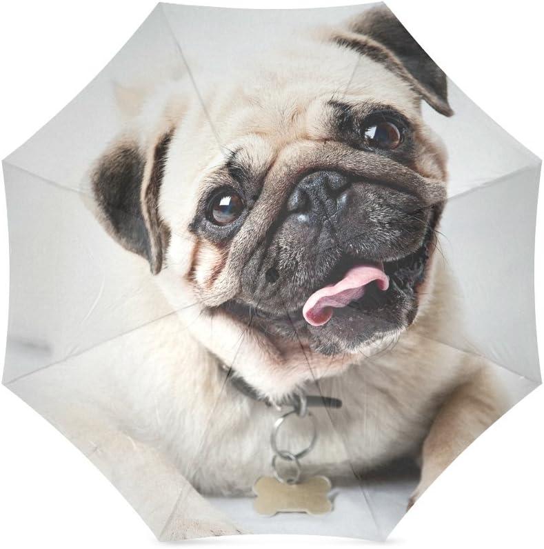 Beautytool Happy Pug Custom Foldable Rain Umbrella