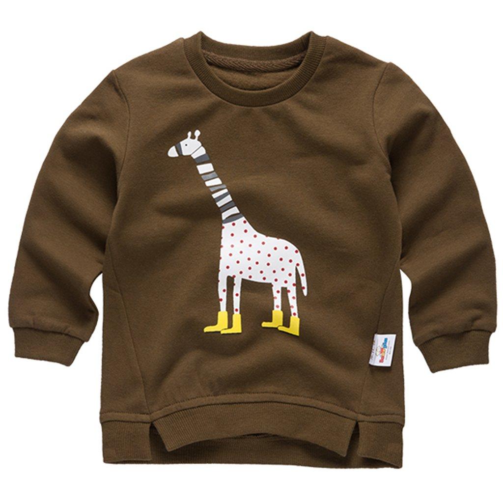 Felpe Sportive del Bambino Ragazzi T-shirt Maglione a Manica Lunga Giraffa Girocollo Pullover, Blu 12-18 Mesi Shenzhen Windy Trading Co. Ltd