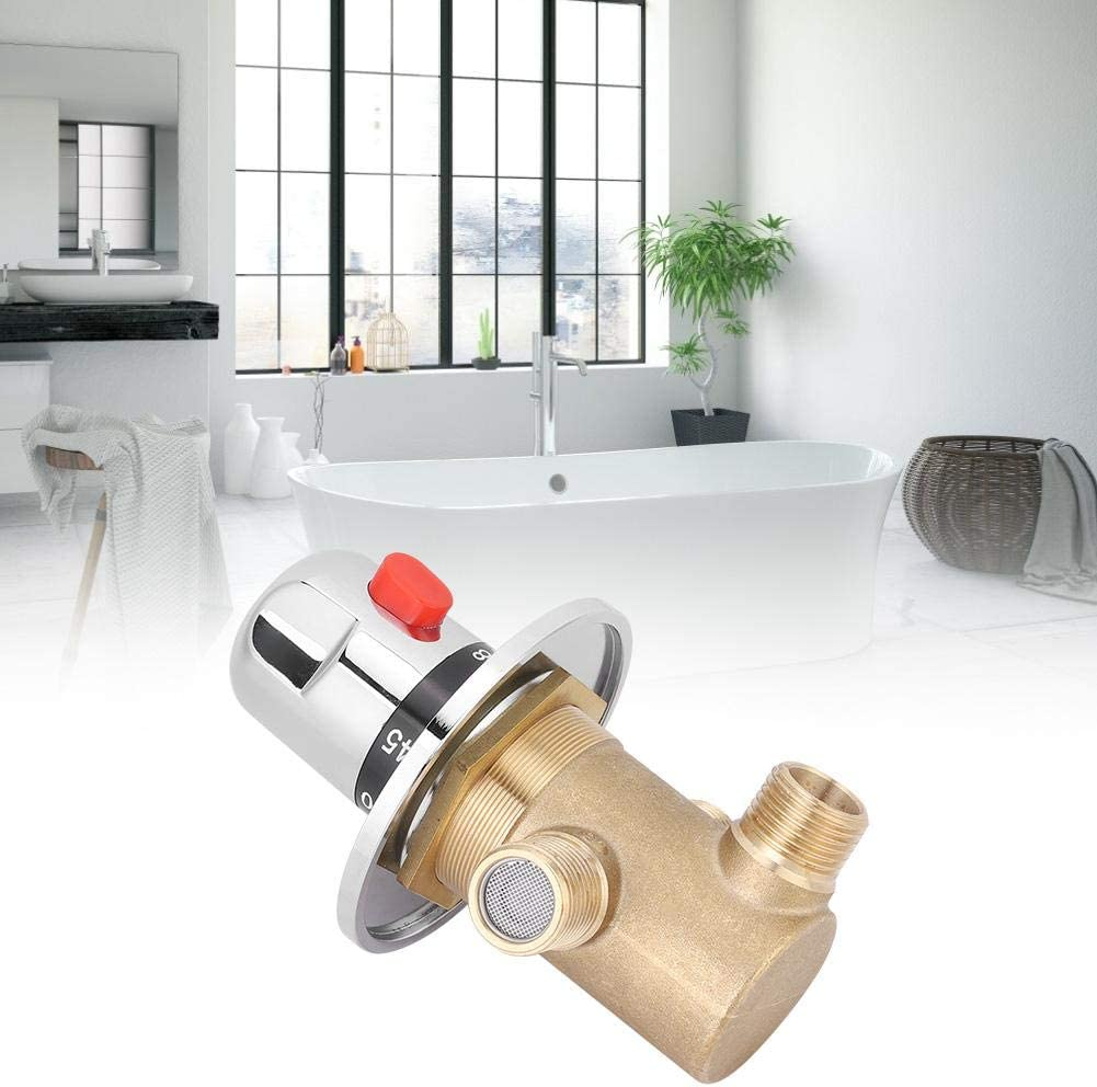la salle de bain Valve de contr/ôle du m/élangeur de temp/érature du robinet pour la maison Vanne thermostatique Mitigeur thermostatique en laiton /à 3 voies G1 // 2in Tempcontrol les toilettes