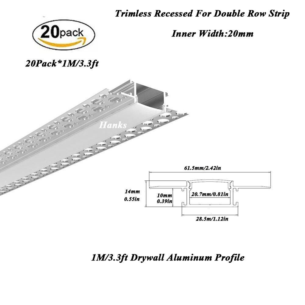 Amazon com: Hanks 10Pack 2M/6 6ft 62X14mm Trimless Recessed