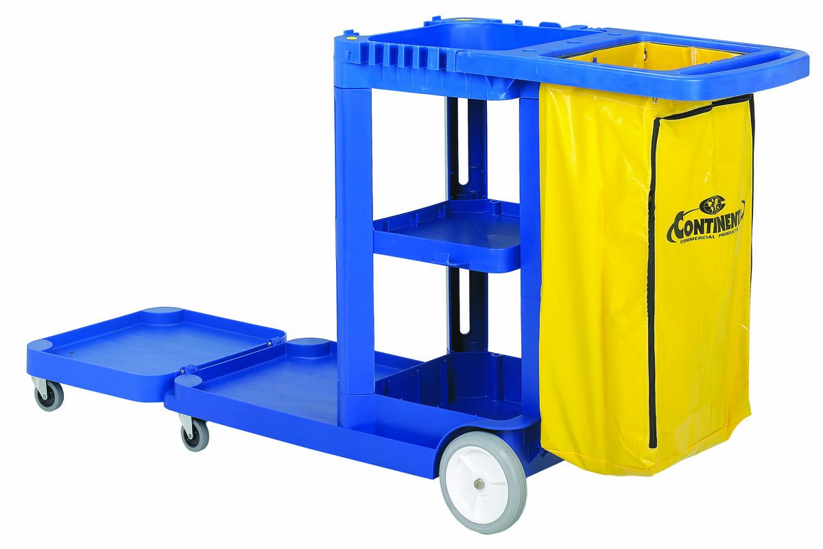 Continental 186BL, Blue Convertible Janitorial Cart (Case of 1)