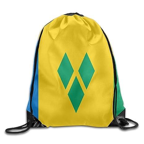 Bandera de San Vicente y Las Granadinas Personalizado Gimnasio con cordón Bolsas Mochila de Viaje Mochila