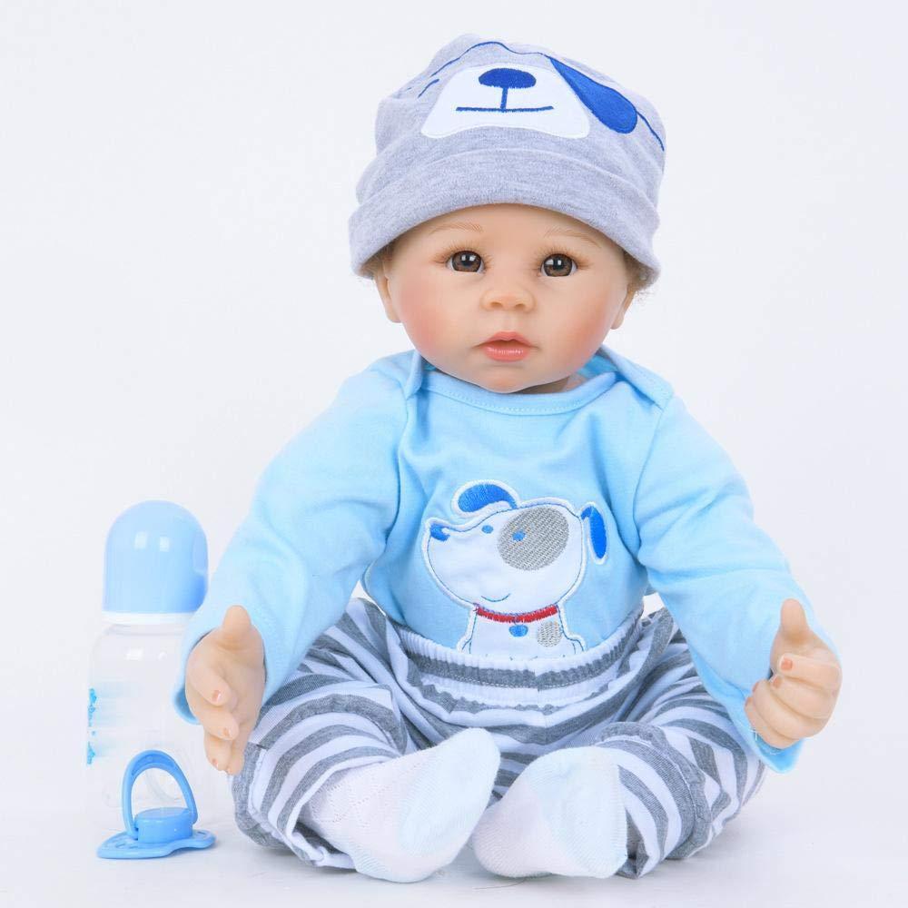 Hongge Reborn Bambola,Realistica bambola Reborn baby crescita Partner Reborn bambola giocattolo del 55cm
