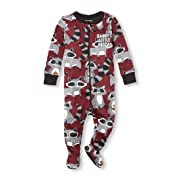The Children's Place Baby Boys Long Sleeve Stretchie, Burgundy, 9-12MOS