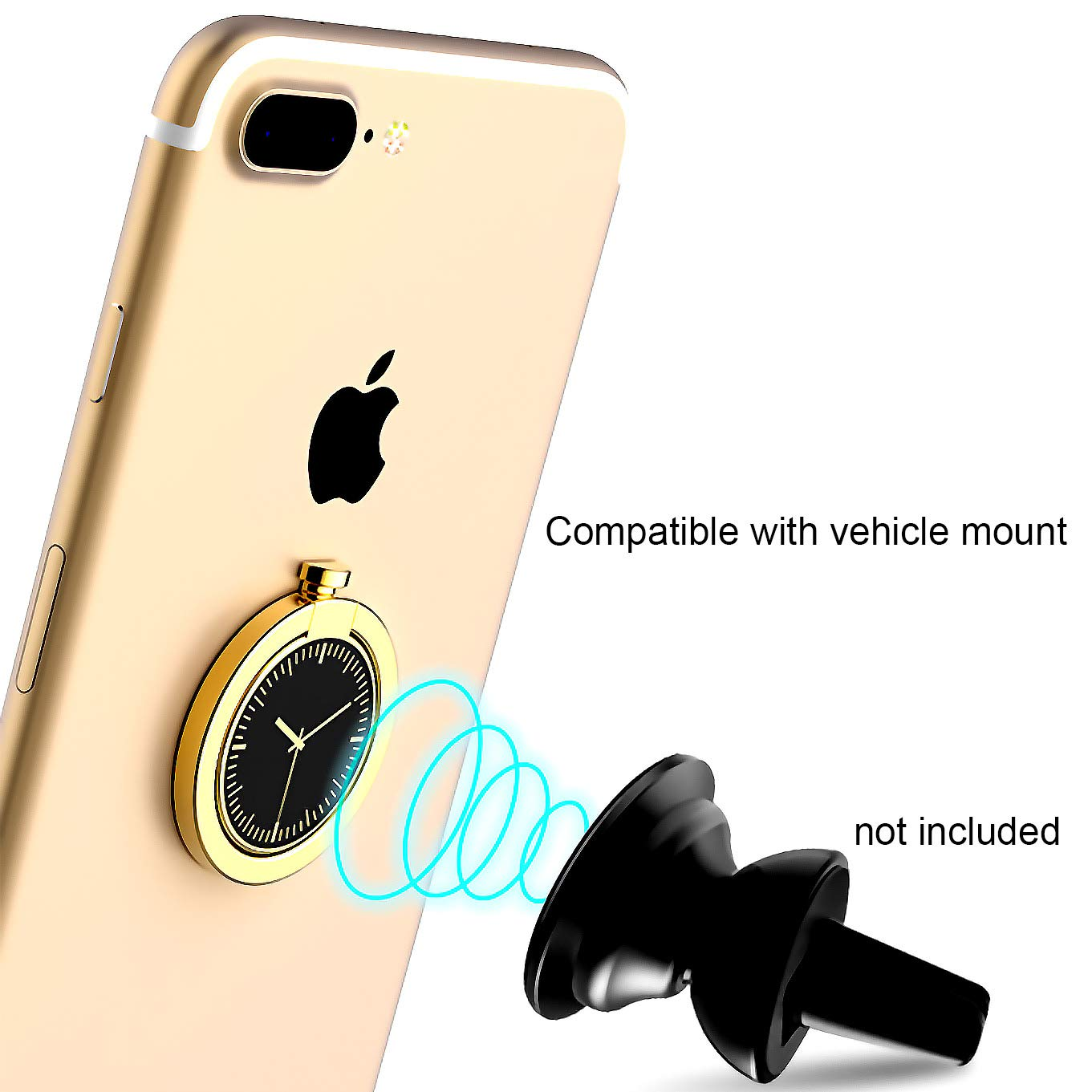 Finger Grip Stand Holder Car Mount for iPhone X,iPhone 8//8 Plus 7//7plus ipad Tablet Samsung Galaxy s9 S9plus S8//S8 Plus Edge Ring Holder 4351526171 CaseHQ Rosegold Cell Phone Ring Holder 360 Degree Rotation