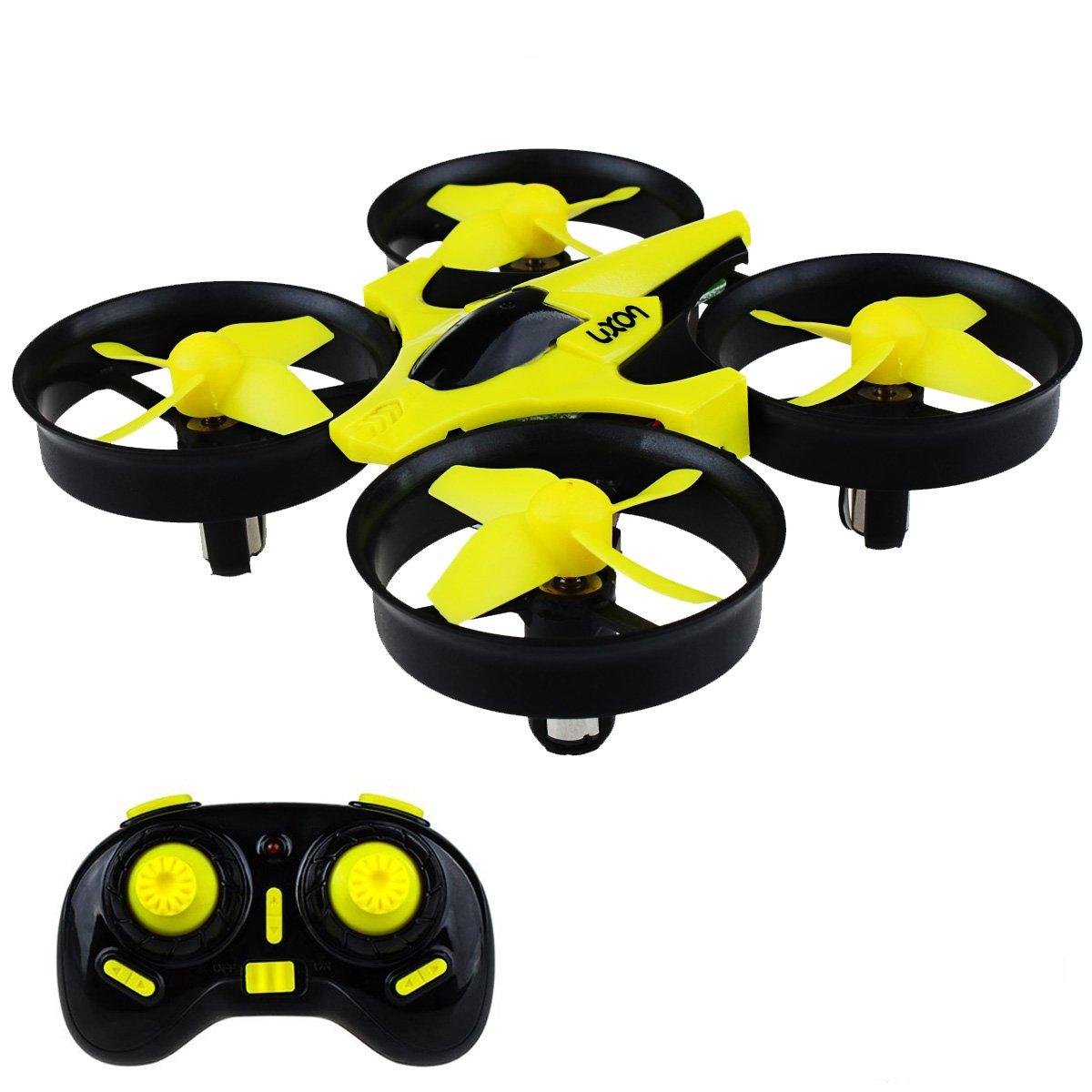 Mini Drone Headless RC Quadcopter Drone for Kids 2.4GHz 4CH 6 Axis Remote Control Helicopter Indoor/Outdoor Flying Small Airplane with One Key Return for Beginner (Yellow)
