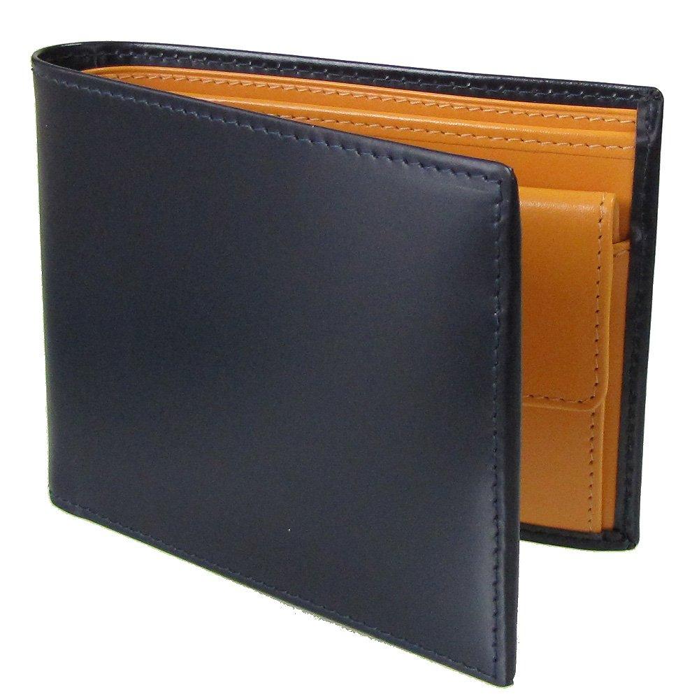 ETTINGER エッティンガー 二つ折り財布 メンズ ブライドルレザー BH 141JR NAVY ネイビー 【並行輸入品】 B0096JM39W