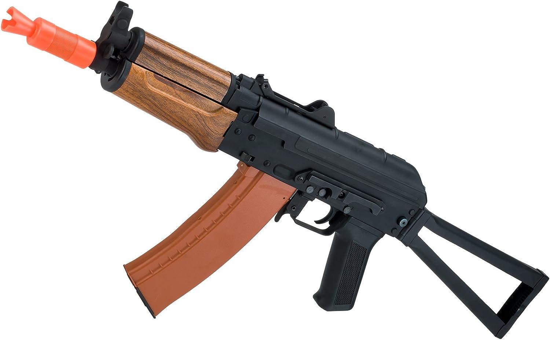 Evike Airsoft - CYMA Sport Airsoft AKS74U AEG Rifle w/Imitation Wood Furniture (Package: Gun Only) - (29565)
