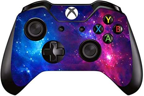 One S Controller Skin Decal for Microsoft XBox One Galaxy Space Blue Purple