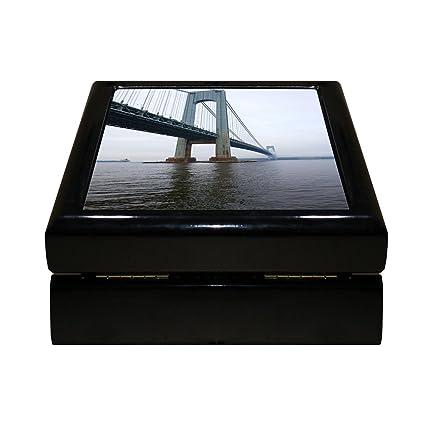 Amazon style in print verrazano narrows bridge 4x4 jewelry style in print verrazano narrows bridge 4quotx4quot jewelry box ceramic tile ppazfo