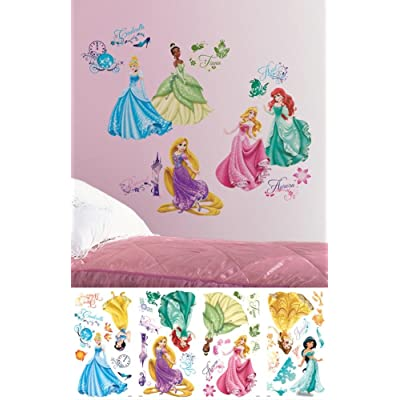 Disney Princess - Royal Debut Peel and Stick Wall Decals 10 x 18in: Toys & Games