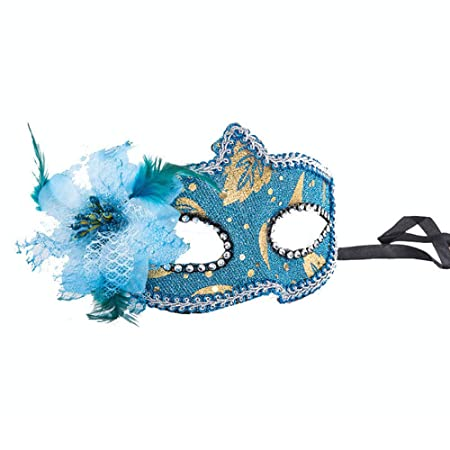 Mascara De Halloweenmoda Mujer Encaje Negro Flor Media Cara ...
