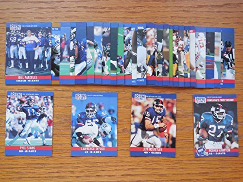 New York Giants 1990 Pro Set Football Master Team Set (Super Bowl Champions) * Includes all cards from series 1,...