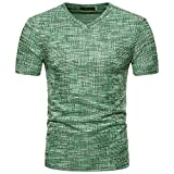 Solid T Shirts for Men, MISYYA Abstract Streak T Shirt Breathable Sweatshirt Muscle Tank Top Masculinity Tee Mens Tops Green