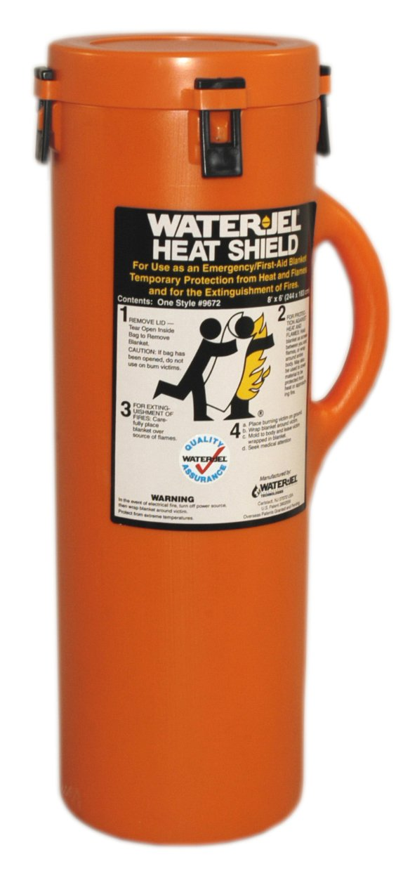 First Aid Only 9672-1 Water Jel Heat Shield Fire Extinguishing Blanket 96 Length x 72 Width