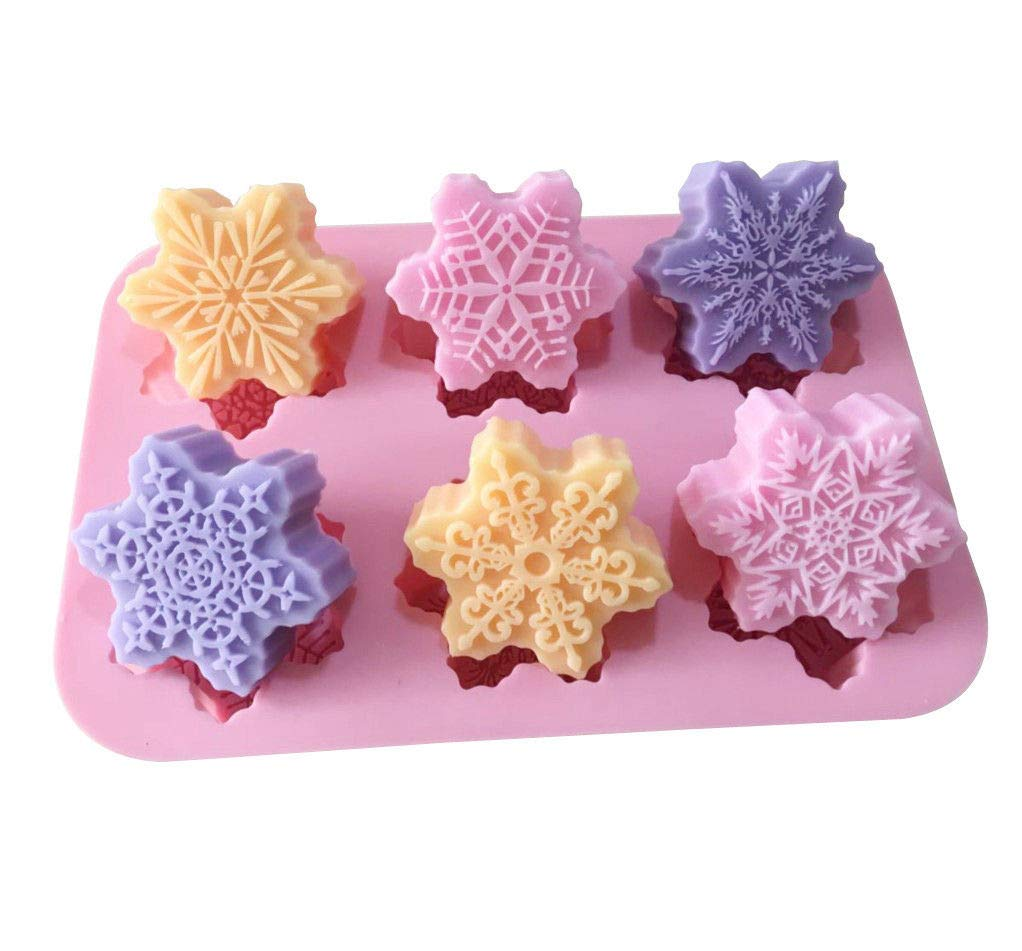 Snowflaker Floral Soap Mold Cake Mold Silicone Mould For Candy Chocolate
