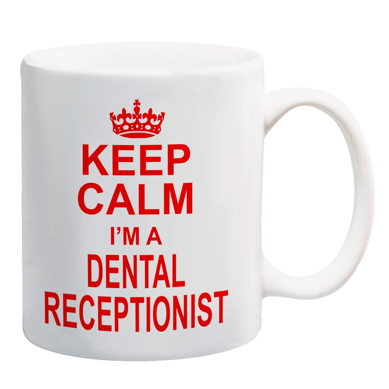 Keep Calm I/'m A Receptionist Red Printed Mug