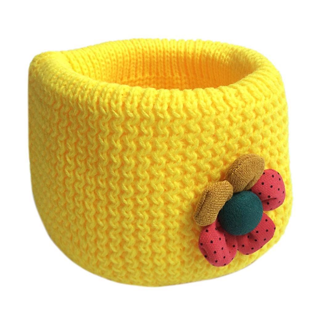 Bebé pañuelos de cuello, RETUROM Niño del bebé Invierno O-ring Bufanda de lana de punto