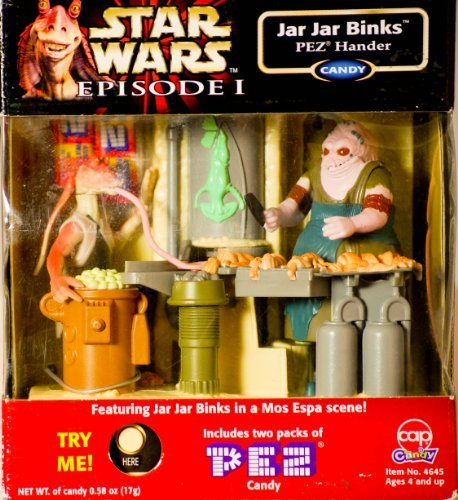 Pez Collectibles - Jar Jar Binks Electronic Pez Dispenser Handler in Mos Espa Scene