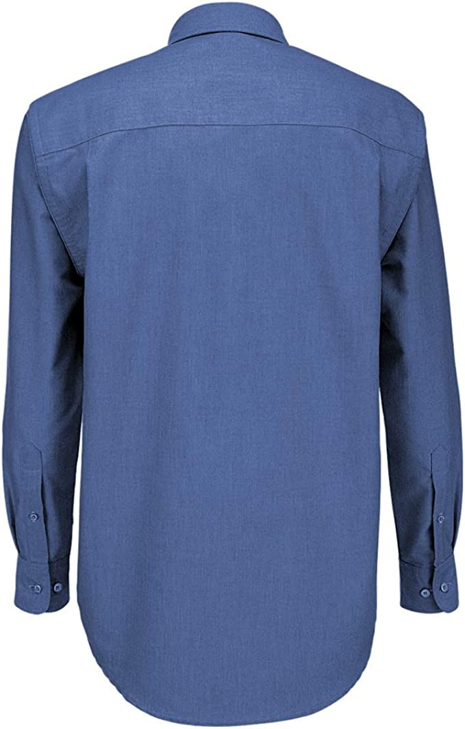 B&C - Camisa de manga larga Modelo Oxford (Tallas grandes) para ...