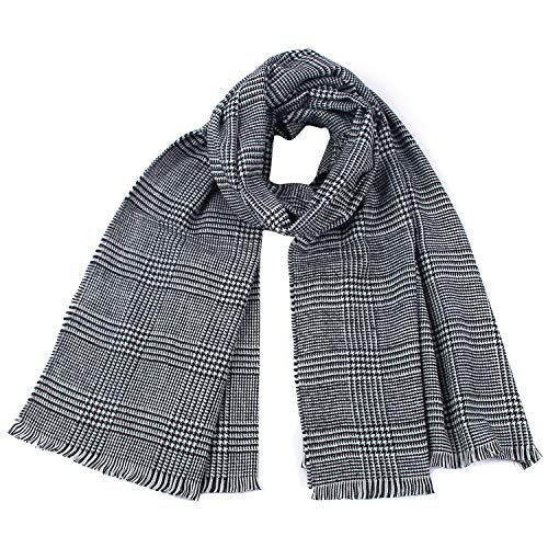 Winter Houndstooth Long Fringed Shawl Scarf For Women Ladies Wool Warm Cashmere ()