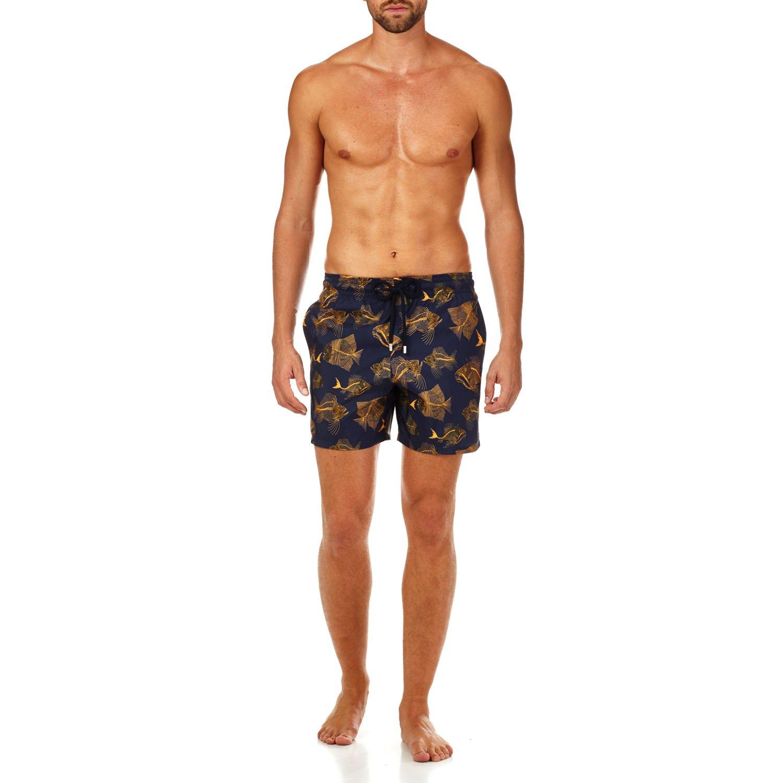 Vilebrequin Prehistoric Fishes Packable Swim shorts - Men - navy - XXL