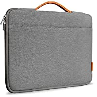 Inateck Maletín de 15 a 15.4 pulgadas con maletín para computadora portátil Bolsa compatible 15 '' MacBook Pro 2013-2015 /MacBook 2016 2017 2018 /Surface Book 2 - Gris oscuro
