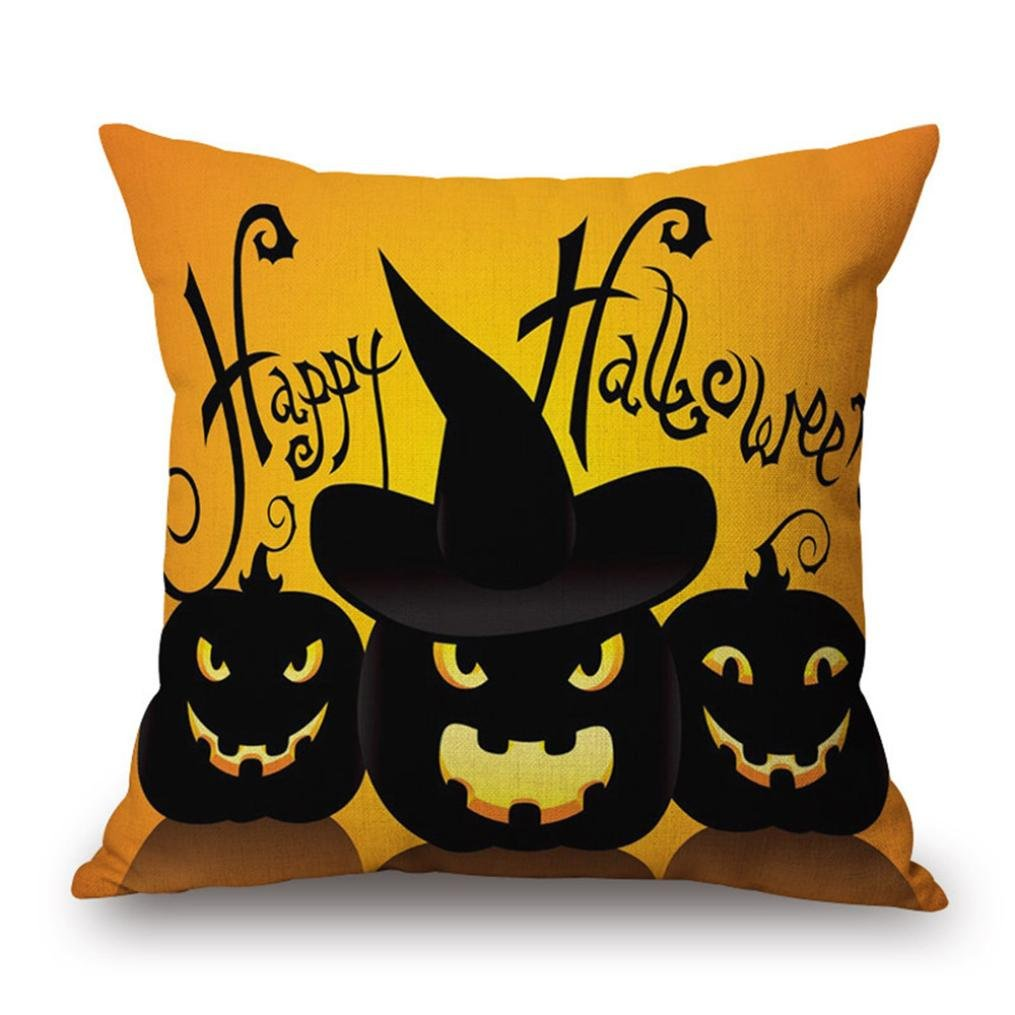 Pillow Case Neartime Happy Halloween Pillow Cases Linen Sofa Cushion Cover Home Decor (Free, C) by NEARTIME (Image #2)