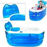 OUKANING Baignoire gonflable en PVC pour adulte 121 x 85 x 70 cm