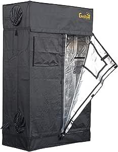 Gorilla Grow Tent Lite Line | Complete 2-Foot by 4-Foot Reflective Hydroponic Grow Tent for Growing Indoor Plants | Steel Interlocking Poles, Windows, Floor Tray