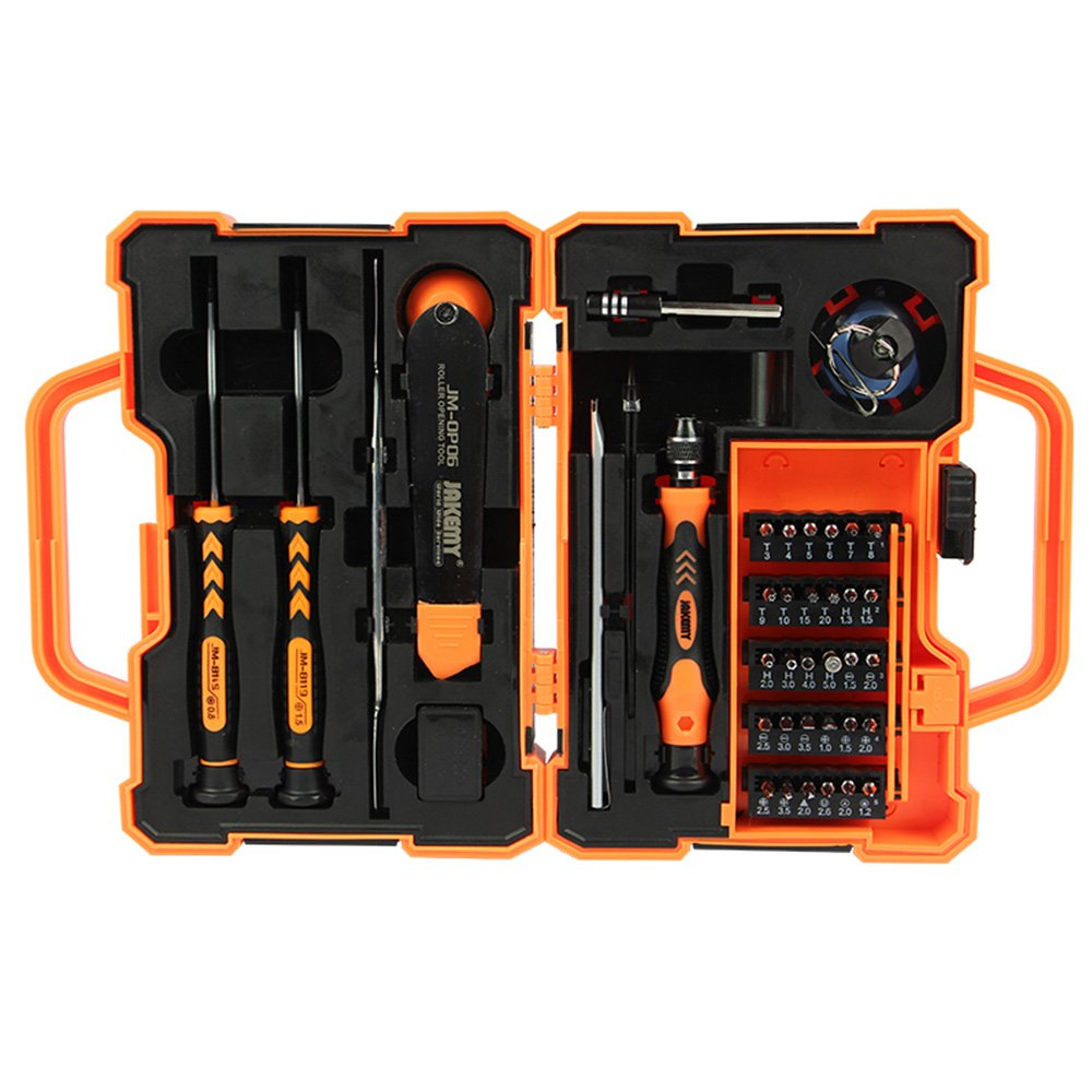 Professional Precision Screwdriver Set (45 in 1) and Cell Phone Repair Tool Kit for Mobile Smartphone, iPad, Computer, Laptop, Electronics (6pcs Octopus Microfiber Bonus) by Octopus Glue (Image #4)