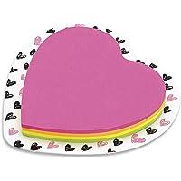 Summit Bloco De Recado Autoadesivo Coracao 70x75 Love Colors - 100 Fls, Multicores