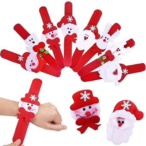 Foto Di Babbo Natale Per Bambini.Gudotra 32pz Braccialetti Slap Bambini Bracciale Modello Di Babbo Natale Per Bomboniera Regalino Festa Compleanno Bambini Giocattoli Ricompense Di