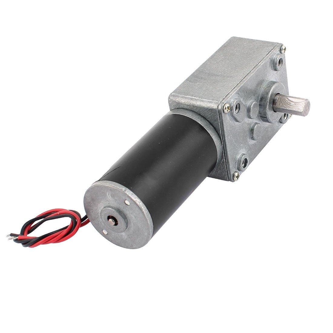 sourcingmap/® DC 12V 15RPM 8mmx14mm D-Form Elektrische Leistung Turbo Schnecke Getriebemotor de